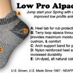 alpaca low ankle socks