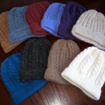 item 4 trenza cable knit hat