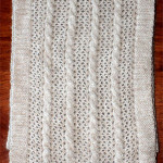 alpaca cable lace scarf